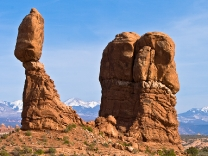 Balanced Rock in Arches National Park near Moab, Utah