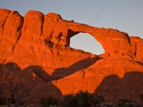 Skyline Arch at Sunset in Arches National Park near Moab, Utah